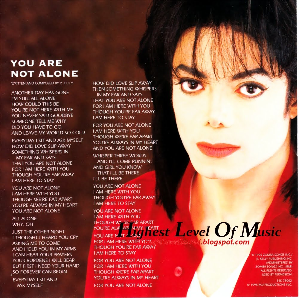 دانلود آهنگ You Are Not Alone از Michael Jackson + ترجمه